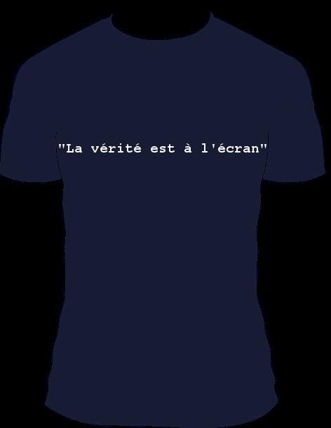 T-shirt Laurent Bourrelly la vérité est à l'écran