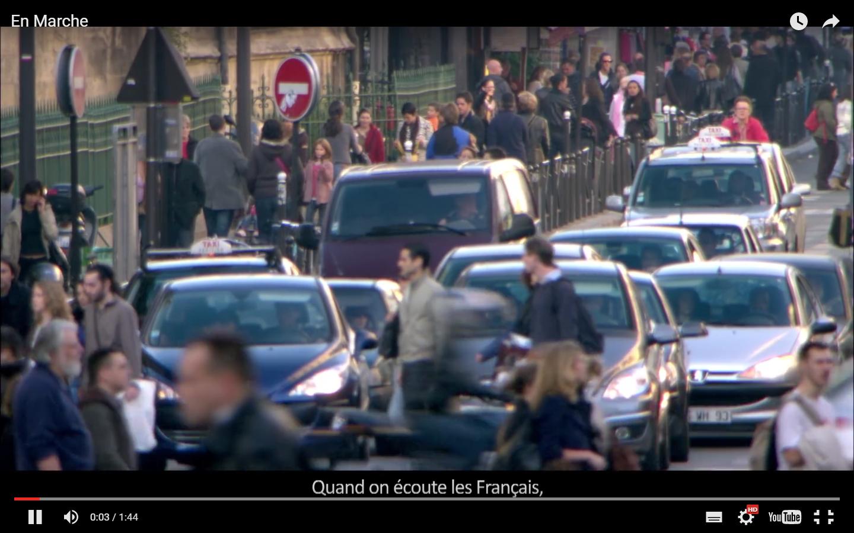 «Quand on écoute les Français, on entend partout la même chose. Il faudrait que ça bouge.Il faudrait essayer des idées neuves, aller plus loin, oser, en finir avec l'immobilisme. Ça ne date pas d'hier.»