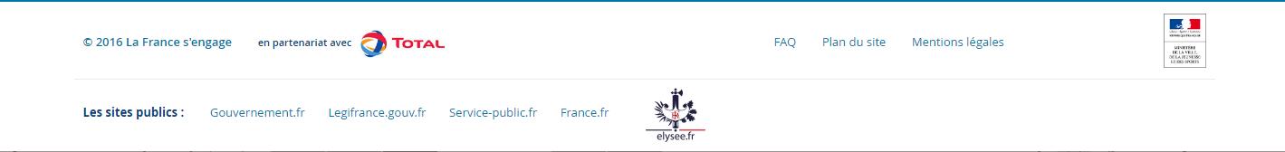 Footer de la France s'engage