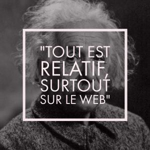 Einstein et la relativité du Web