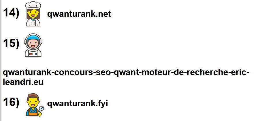 Classement du site qwanturank